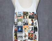 All Stars Rock Singer Cover Album White Singlet Tank Top Sleeveless Alternative Indie Punk Rock T-Shirt Size M