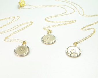 Set of Three Initial Necklaces, Personalized Gifts for Her, Sister Gifts