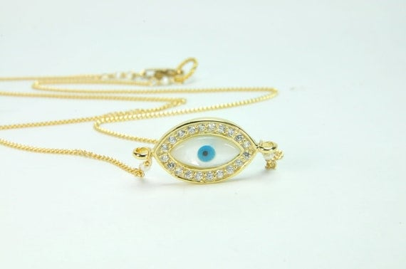 Evil Eye Necklace/EvilEye Jewelry/Evil Eye Necklace in Gold
