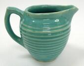 Vintage USA/Bauer Ringware Turquoise/Aqua Creamer - BOLDvintage