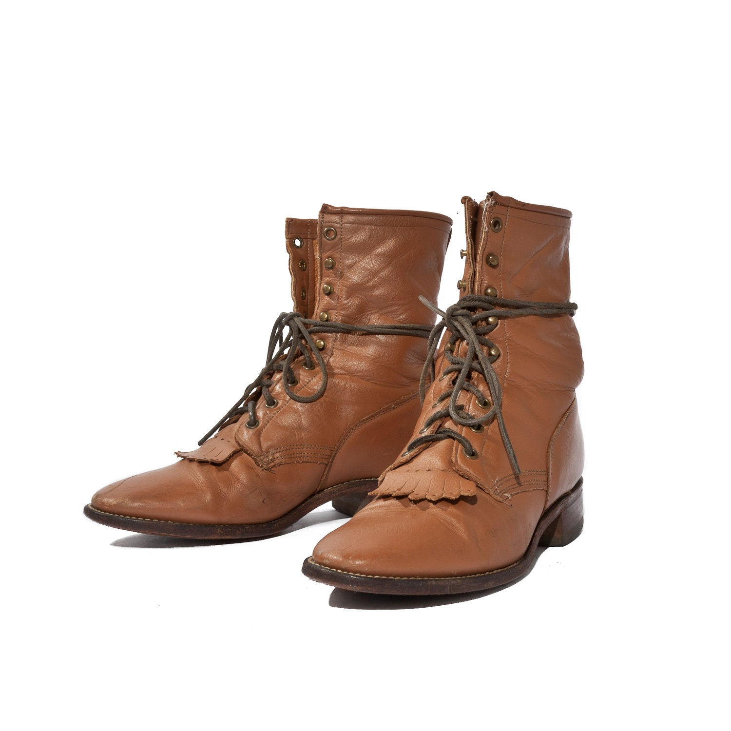 s lace up roper boots mocha brown leather by nashdrygoods
