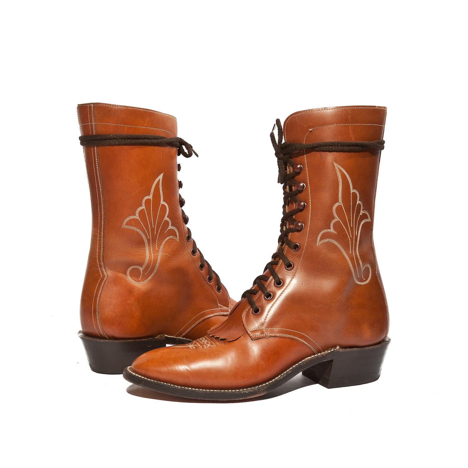 Tony lama lace up roper boots for men reanimators