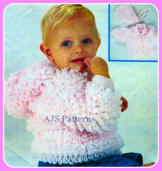 Knitting Stitches Loopy : PDF Knitting Pattern for Babies/Childs Loopy by TheKnittingSheep