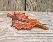 Nature Decor Autumn Fall Colors Harvest Rust Carnelian Red centerpiece