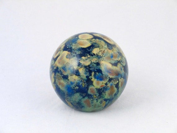 Galaxy Glass Paperweight Blue Space Mother Earth Luxury GIft