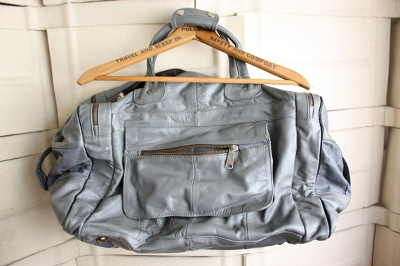 On hold for JESS 50 shades of gray leather  overnighter