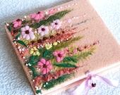 Flower meadow book, journal, notebook.