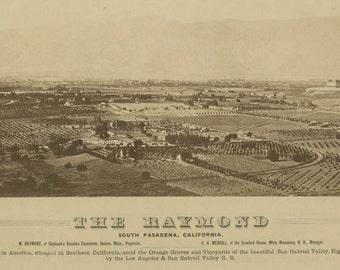 Vintage Map - South Pasadena California 1887