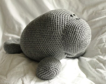 Manfred the Manatee - Amigurumi Plush Crochet PATTERN ONLY (PDF)