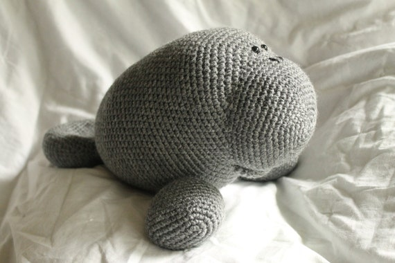 Amigurumi Manatee Pattern : Manfred the Manatee Amigurumi Plush Crochet PATTERN ONLY