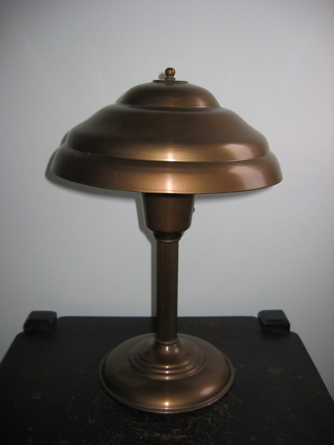 50 S Vintage Mushroom Table Lamp Copper Colored Metal