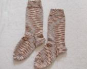Cotton socks knitted (Size US 5, UK 2.5, Europe 35)