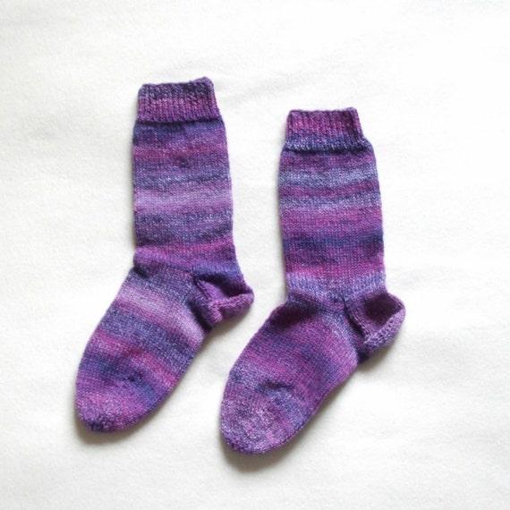 Knit socks for women purple (Size US 6.5 - 7.5, UK 4 - 5, Europe 37-38)