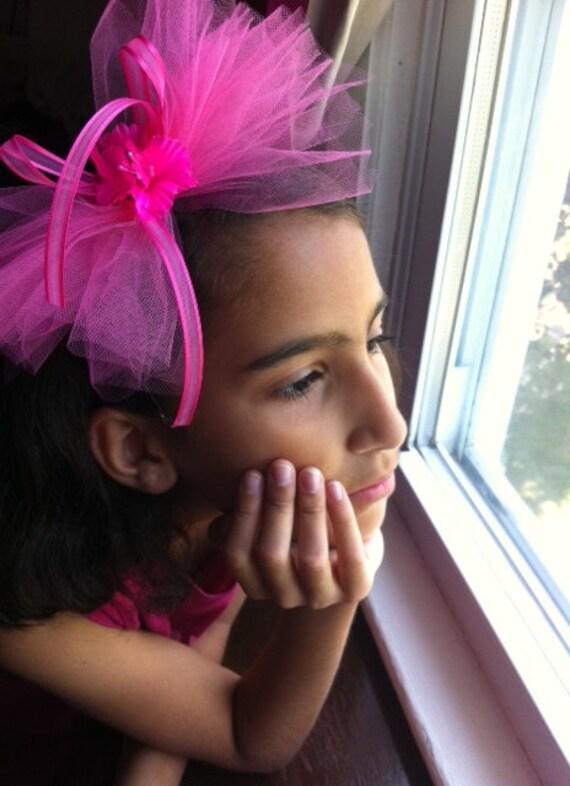Hot pink head band