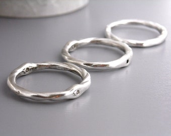 LINK-SILVER-21MM - 10 pcs of 21mm Antique Silver Plated Links