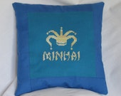 Custom World of Warcraft Guild Tabard Cross Stitched Pillow OR Baby Bib