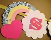 You Are My Sunshine Party Banner - Baby Shower or Birthday Party - GIRLY VERSION
