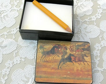 New York Metropolitan Museum Art Box with Notepaper & Pencil, unused vintage