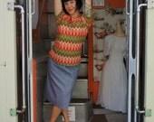 Vintage 1960s Missoni inspired Multicolor Pattern Shirt