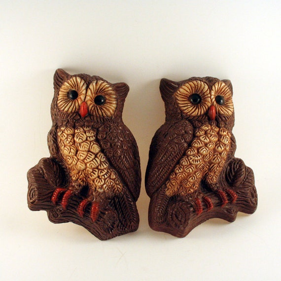 Vintage Owl Wall Decorations