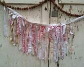 Spring summer garland girl boho tattered skirt funky prairie Rachel Ashwell shabby chic skirt tattery fairy girl roses linen wrap yoga class