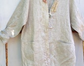 RESERVED Beck  tunic european new  upcycled rustic prairie tunic lace wedding  shirt