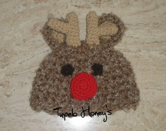 Rudolph The Red Nose Reindeer Hat