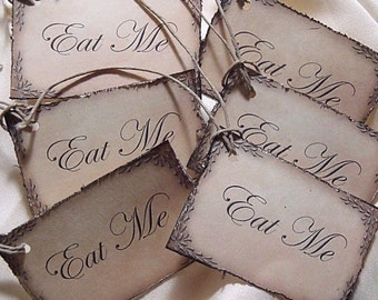 EaT Me TaGs set of 12 Made to order