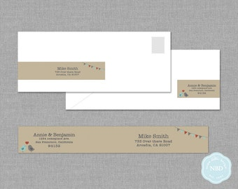 Love Birds Wraparound Mailing Label [Printable | DIY | Digital File]