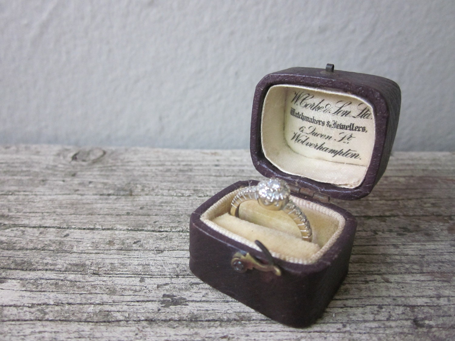 Image result for engagement ring in box vintage