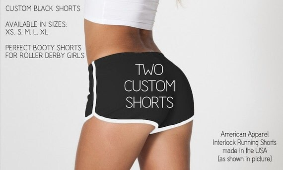 2 Pack of Custom Shorts - Perfect for Roller Derby Girls - 15% off - Made in USA