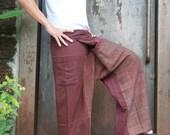 Thai Fisherman Pants,Unisex Pants ,Wide Leg Pants,Yoga Pants,Maternity Pants (Stone wash cotton)