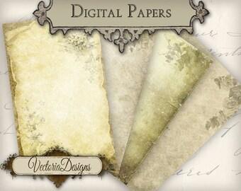 Digital Flower Papers 8 x 5 inch paper pack instant download printable digital collage sheet VD0256