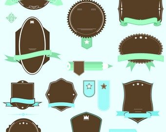 SUPER PACK retro banner ribbons frames pack INCLUDING all files as pictured