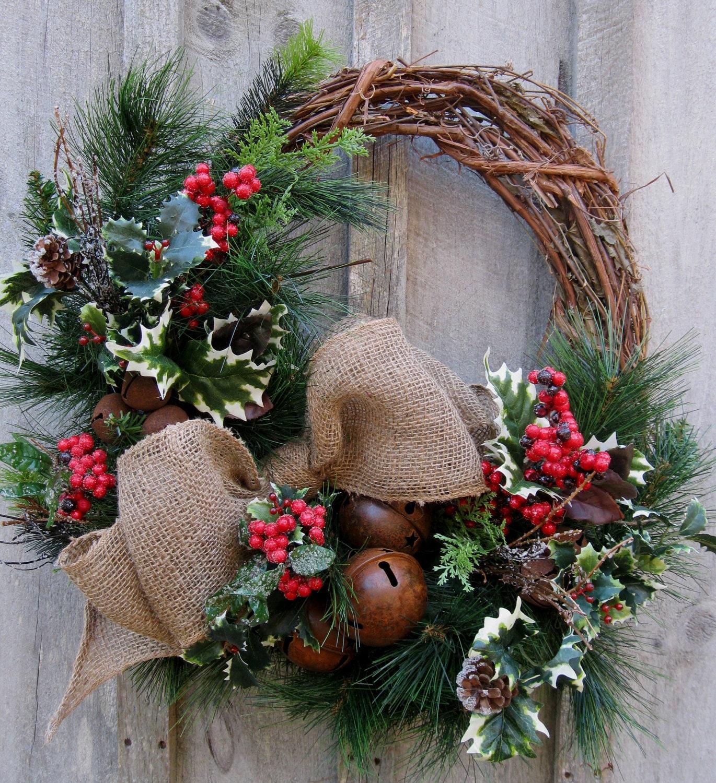 Christmas Wreath Holiday Décor Woodland Christmas Rustic