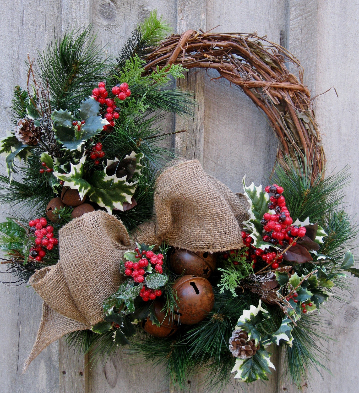 Christmas wreath holiday décor woodland rustic
