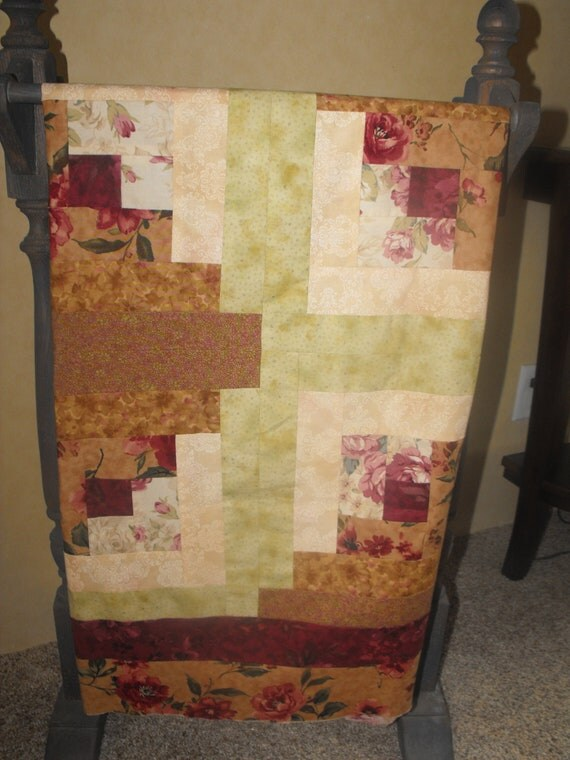 Quilt top,  Log Cabin Pattern, UNFINISHED, 46X46