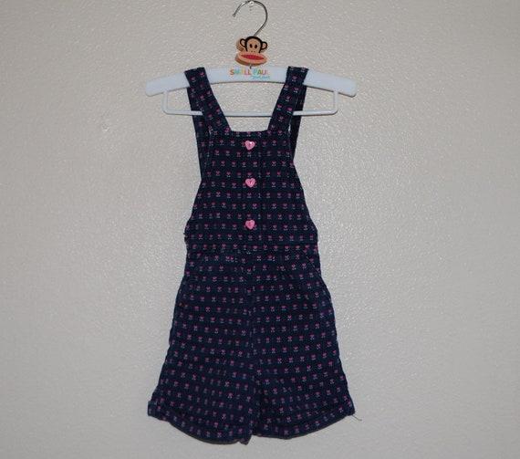 VTG Sweetheart short overalls Candy heart buttons