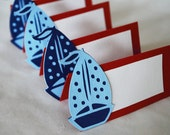 Sailboat Food Tags Place Holder Set of 12 By Your Little Cupcake