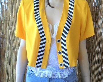 Vintage 80s Adorable Cropped Jacket/Shirt  Sz M
