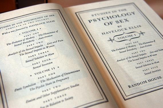 Studies in the Psychology of Sex - Havelock Ellis - 2 Volumes in Slipcover - c 1942