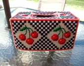 Cherries Tissue Box Cover OOAK Ready to Ship