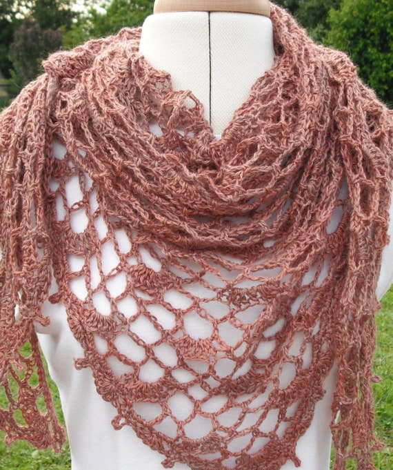 Nutmeg Lace Shawl PDF crochet pattern