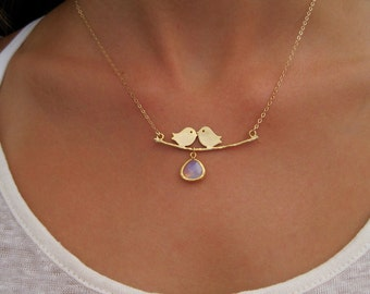 Bird On a Wire Gold Necklace