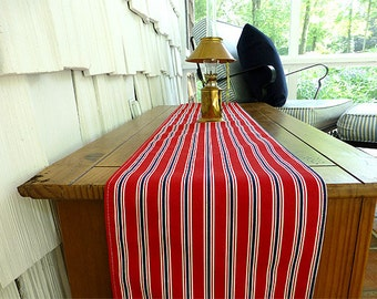 Choose your Table Runner, 10 x 72 Red Blue Striped Table Runner Wedding Gift Table Runners Decorative Holidays