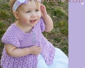 Toddler Cardigan Crochet Pattern BELLA REBEKAH CARDIGAN digital