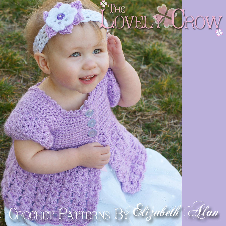 Toddler Cardigan Crochet Pattern BELLA REBEKAH CARDIGAN