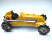 Vintage Thimble Drome Tether Race Car Roy Cox Special Gas Powered Motor Original Yellow 44