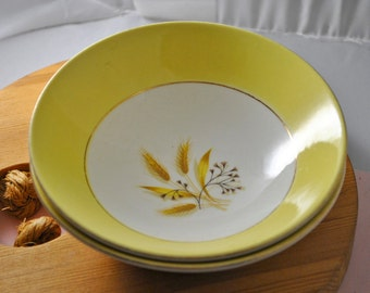 Homer Laughlin Autumn Gold Pattern Bowls, Set of two, Alliance Ohio Bowls