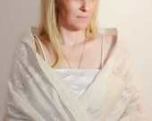 Bridal Shawls Wraps/ Creamy white felted  wedding wrap/Autumn/winter Wedding/wedding jacket/capelet/bolero